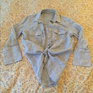 James Perse Standard Button Down Shirt, SZ 0!